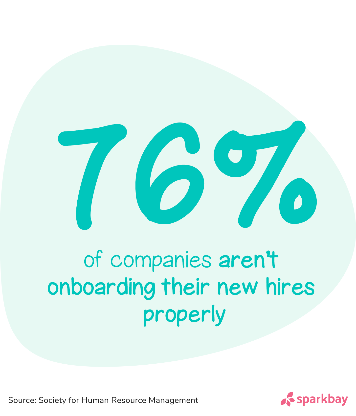 Employee onboarding statistics: 76% of companies aren't onboarding their new hires properly.'